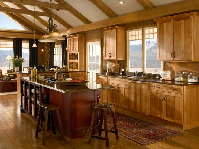 Kraftmaid Natural Hickory Kitchen Cabinets