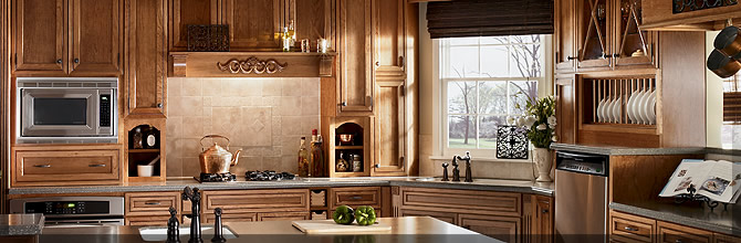 Stain With Glaze Finishes Kraftmaid Cabinetry