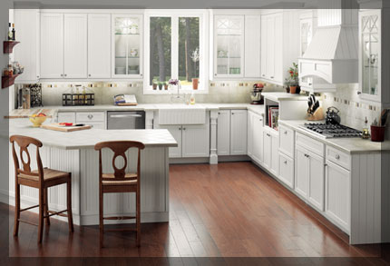 Kitchen Design G Shape g-shaped kitchen - kraftmaid cabinetry