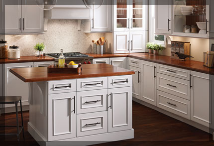 L Shaped Kitchen l-shaped kitchen - kraftmaid cabinetry