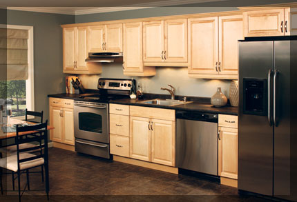 one wall galley kitchen design. Single Wall Shaped Kitchen  KraftMaid Cabinetry