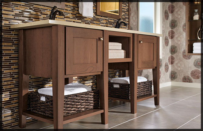 Console Vanity Collections Kraftmaid Cabinetry